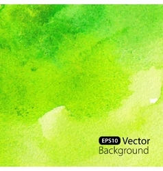 Abstract green watercolor background vector