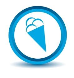 Blue ice cream icon vector