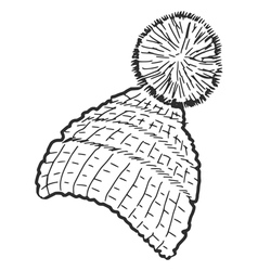 Knitted cap vector