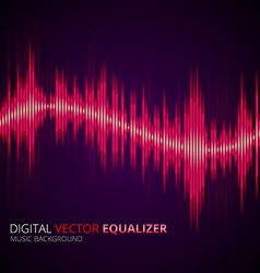 Equalizer yellow vector