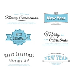 Merry christmas type vector