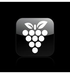 Grape single icon vector