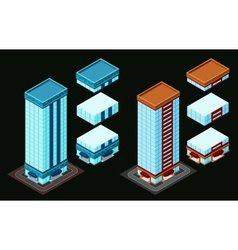 Isometric building vector