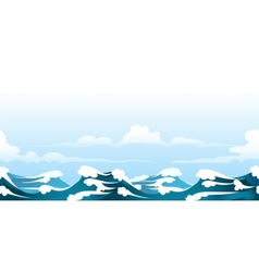 Seascape pattern vector