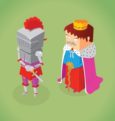 Isometric king and knight vector