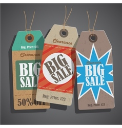Sale tags set vintage vector