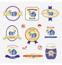 Set of label design vector