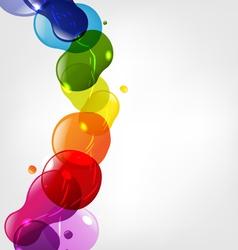 Color splotch border vector