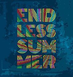 Endless summer artwork for wear in custom colors vector