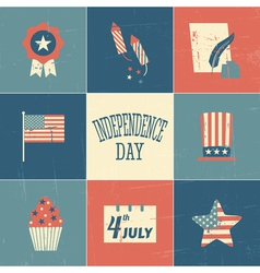 Independence day cards collection vector
