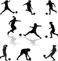 Womanfootball vector