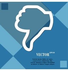 Dislike thumb down icon symbol flat modern web vector