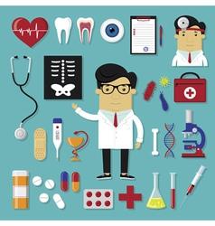 Medicine set vector