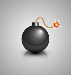 Black bomb icon vector