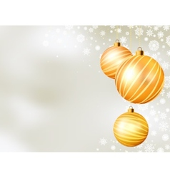 Light christmas backdrop with five balls eps 8 vector