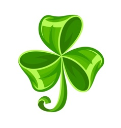Shamrock bow made of green vector