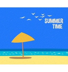 Summertime holidays card vector