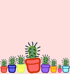Cactus seamless 6 vector