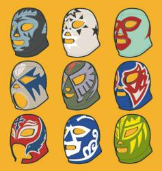Wrestling masks vector