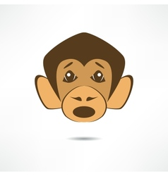 Surprised monkey vector