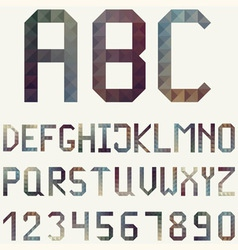 Latin alphabet made of geometric pattern vector