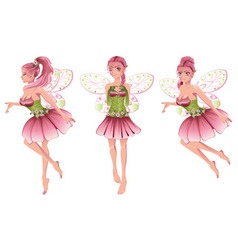 Pink floral fairy2 vector