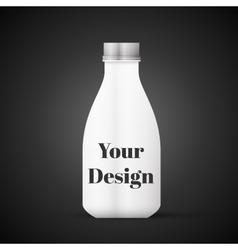 Blank milk or juice pack isolated on black vector
