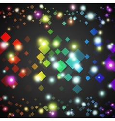 Abstract square glowing circles with lights and vector