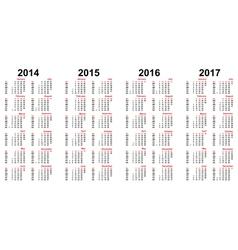 Calendar 2014 - 2017 vector