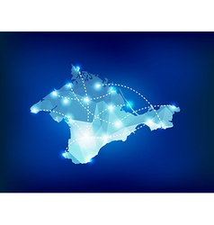 Crimea country map polygonal with spot lights plac vector