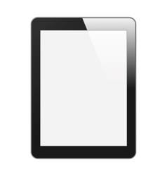 Realistic tablet pc with blank screen vertical vector