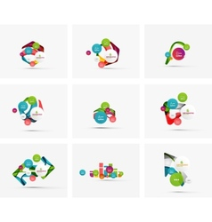 Set of step infographics business layouts vector