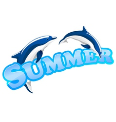 Summer dolphins vector