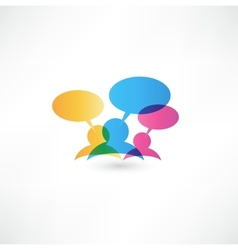 Talk concept speech bubbles vector