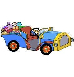 Car with christmas gifts vector