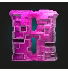 Pink plastic figure h vector