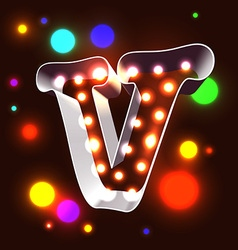 Retro vegas lamps abc for signboard vector