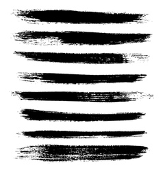 Hand drawn grunge design elements and brush stroke vector