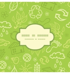 Environmental frame seamless pattern background vector
