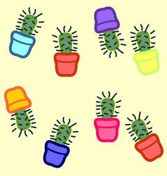 Cactus seamless vector