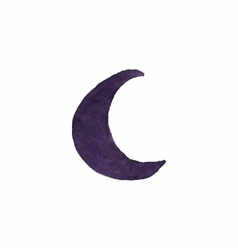 Watercolor crescent on the white background vector