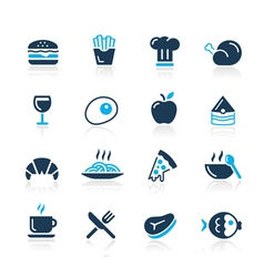 Food icons 1 azure series vector