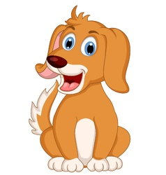 Cute little dog cartoon expression vector