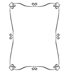 Calligraphy ornamental decorative frame with heart vector