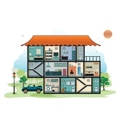 Home interior vector