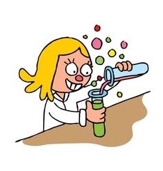 Schoolgirl chemistry test vector