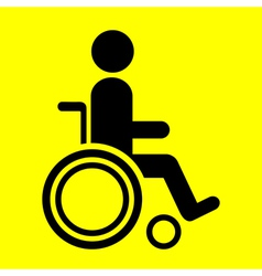 Sign wheelchair vector