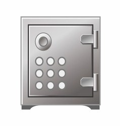 Safe box icon iron stainless vector