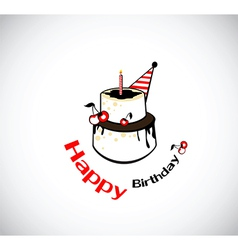 Happy birthday card cake vector