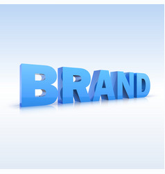 The word brand volumetric three-dimensional vector